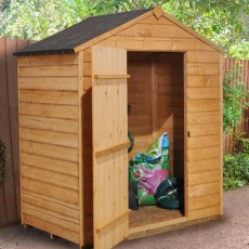 5 x 3 (1.62 x 0.94m) Forest Overlap Apex Garden Shed - No Windows