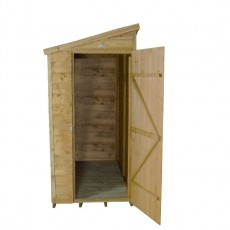 6 x 3 (1.81m x 1.07m) Forest Overlap Pressure Treated Pent Shed