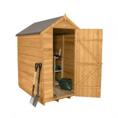 Forest 6 x 4 (1.82m x 1.32m) Forest Overlap Apex Garden Shed - No Windows