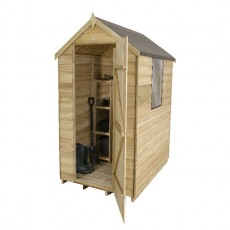 6 x 4  (1.82m x 1.32m) Forest Overlap Pressure Treated Apex Shed