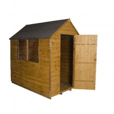 7 x 5 Forest Overlap Apex Garden Shed - Open door