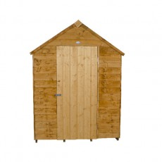 7 x 5 Forest Overlap Apex Garden Shed - Front view, door closed