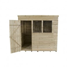 6 x 8 (1.75 x 2.33m) Forest Overlap Pressure Treated Pent Shed