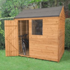 8 x 6 (2.40m x 1.8m) Forest Overlap Reverse Apex Shed
