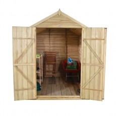 8 x 6 (2.30m x 1.78m) Forest Overlap Pressure Treated Apex Shed