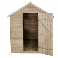 8 x 6 (2.33m x 1.78m) Forest Overlap Pressure Treated Apex Shed - With Onduline Roof