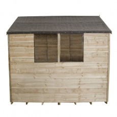 8 x 6 (2.33m x 1.78m) Forest Overlap Pressure Treated Apex Shed