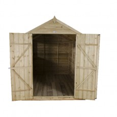 10 x 6 (3.05m x 1.78m) Forest Overlap Double Door Pressure Treated Apex Shed