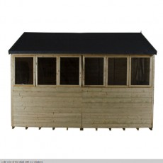 12 x 8 (3.66m x 2.48m) Forest Tongue And Groove Pressure Treated Apex Shed
