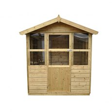 6 x 6 Forest Charlbury  Pressure TreatedShiplap Summerhouse - three quarter view
