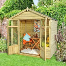 7 x 5 (2.1 x 1.5m) Forest Bloxham Shiplap Summerhouse Pressure Treated