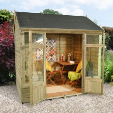 8 x 6 (2.4 x 1.8m) Forest Kempsford Shiplap Summerhouse Pressure Treated