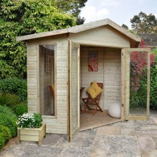 8 x 8 (3.32m x  2.43m) Forest Honeybourne Shiplap Summerhouse - Pressure Treated