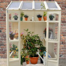"4'10"" Wide (1.47m) Forest Victorian Tall Wall Greenhouse"