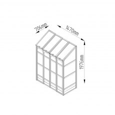 "4'10"" (1.47m) Wide Victorian Tall Wall Greenhouse - specification"