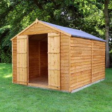 12 x 8 (3.57m x 2.48m) Mercia Overlap Shed - No Windows