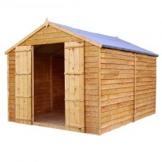 Mercia 12 x 8 (3.57m x 2.48m) Mercia Overlap Shed - No Windows