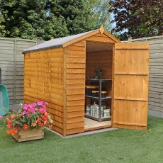 7 x 5 (2.13m x 1.48m) Mercia Overlap Shed - No Windows