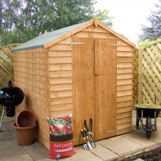 8 x 6 (2.40m x 1.90m) Mercia Overlap Shed - No Windows