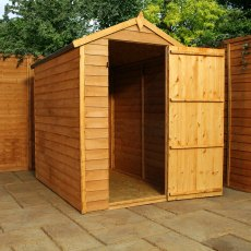 6 x 4 (1.81m x 1.25m) Mercia Overlap Shed - No windows