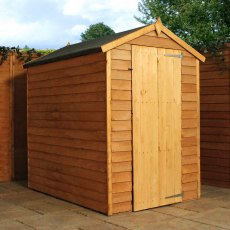 Mercia 6 x 4 (1.81m x 1.25m) Mercia Overlap Shed - No windows