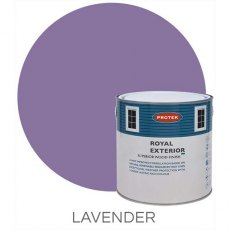 Protek Royal Exterior Paint 5 Litres - Lavender Colour Swatch with Pot