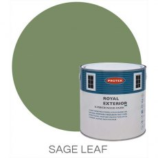Protek Royal Exterior Paint 5 Litres - Sage Leaf Colour Swatch with Pot