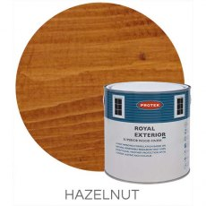 Protek Royal Exterior Paint 5 Litres - Hazelnut Colour Swatch with Pot