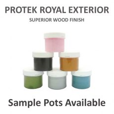 Protek Royal Exterior Wood Finish Sample Pots of Paint