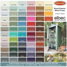 Protek Royal Exterior Colour Chart