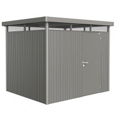 9 x 8 (2.75m x 2.35m) Biohort Highline H3 Metal Shed Single Door