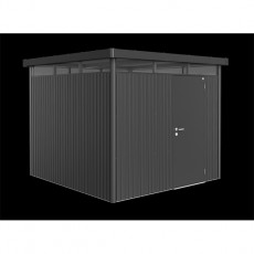 9 x 9 (2.75m x 2.75m) Biohort Highline H4 Metal Shed Single Door