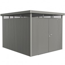 9 x 10 (2.75m x 3.15m) Biohort Highline H5 Metal Shed Double Doors