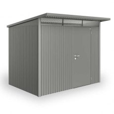 8'6' x 10' (2.60m x 3.00m)  Biohort AvantGarde Metal Pent Shed Single Door