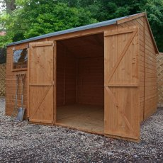 10 x 10 (3.18m x 3.07m) Mercia Reverse Apex Wooden Workshop