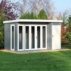 12 x 8 (3.59m x 2.39) Shire Aster Summerhouse with Side Storage
