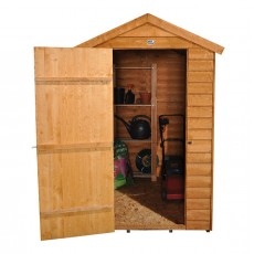 6 x 4 (1.84m x 1.33m) Forest Easy-Fit Overlap Apex Shed - No Windows