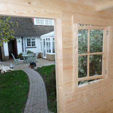 8 x 6 Shire Avesbury Log Cabin - View from inside