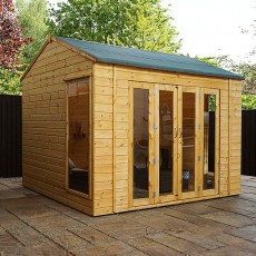10 x 8 (3.00m x 2.39m) Mercia Vermont Summerhouse
