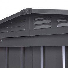 Roof vents on 6 x 4 Lotus Apex Metal Shed in Anthracite Grey