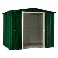 8 x 10 (2.34m x 2.99m) Lotus Apex Metal Shed in Heritage Green