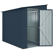 5 x 8 (1.44m x 2.34m) Lotus Lean-To Metal Shed in Anthracite Grey