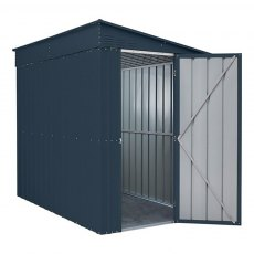 Dimensions for 5 x 8 Lotus Lean-To Metal Shed in Anthracite Grey
