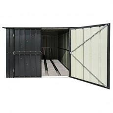 6 x 6 (1.89m x 2.02m) Lotus Metal Bike Store in Anthracite Grey