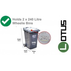Dimensions of bins able to fit in 5 x 3 Lotus Metal Double Bin Store in Anthracite Grey