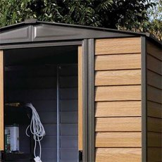 Rowlinson Garden Products 6 x 5 (1.94m x 1.51m) Rowlinson Woodvale Metal Shed