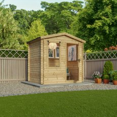 8G x 6 (2.5m x 2.0m) Mercia Studio Log Cabin 19mm Logs
