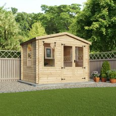 11 x 10 Mercia Studio Log Cabin 19mm Logs