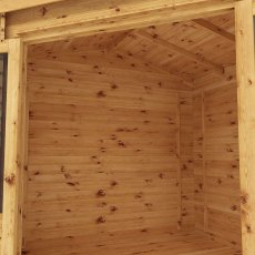 Dimensions of 10 x 10 Mercia Corner Log Cabin