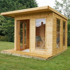10 x 10 (2.9m x 2.9m) Mercia Cube Summerhouse